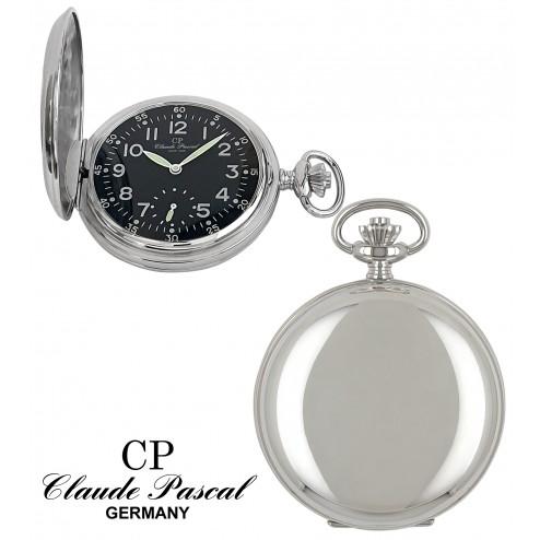 Taschenuhr Silber 925/-, Savonette, rhodiniert, poliert, PTS 9310