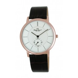 Herrenuhr, Edelstahl, IP-Rose, Quartz, super flach
