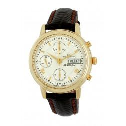 Herren Golduhr 585/-, ca. 44,0gr. 14kt., Chronograph Valjoux 7750 Swiss-Automatic