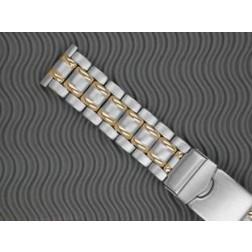 Metallband, Stahl-Gliederband bicolor 18mm