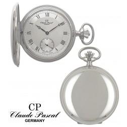 Taschenuhr Silber 925/-, Savonette, rhodiniert, poliert