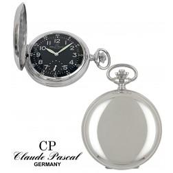 Taschenuhr Silber 925/-, Savonette, rhodiniert, poliert, Unitas 6498 swiss