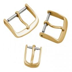 Lederband-Dornschließe echt Gold 585/-, ca. 1,5gr.14kt. 8 mm